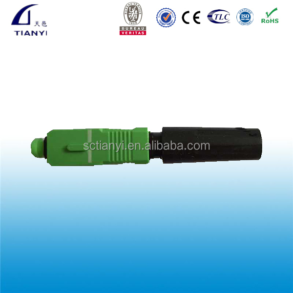 Field assembly sc/apc fast connector single mode