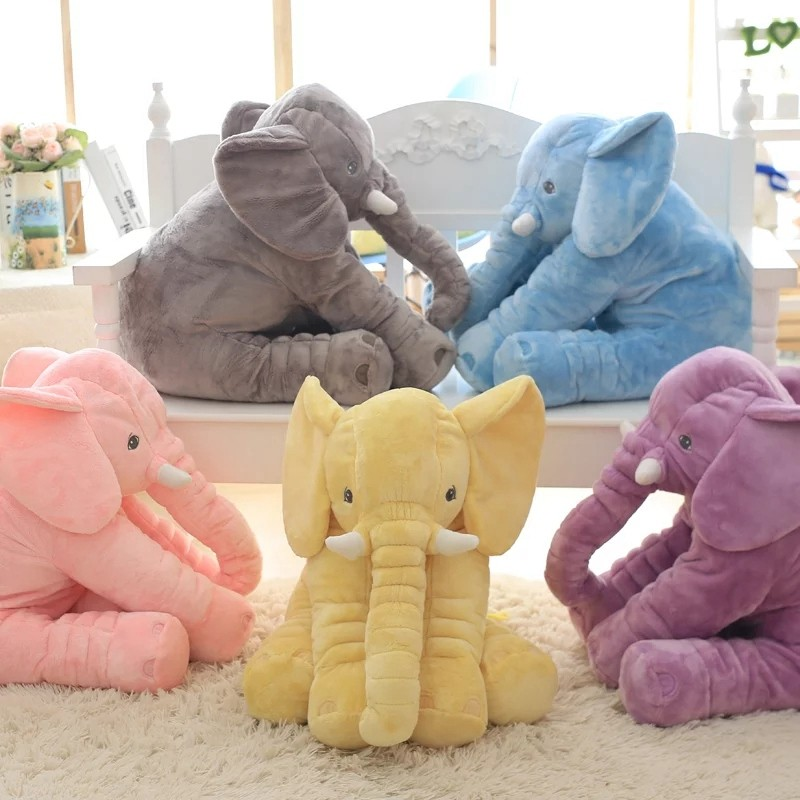 Hot Sale Colorful Giant Elephant Stuffed Animal Toy Animal Shape Pillow Baby Toys Home Decor Elephant <strong>Plush</strong> Pillow&Toys