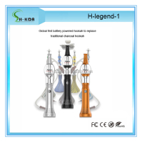 100% Original H-legend electronic glass hookah pen shisha pen with battery kit from HKDA