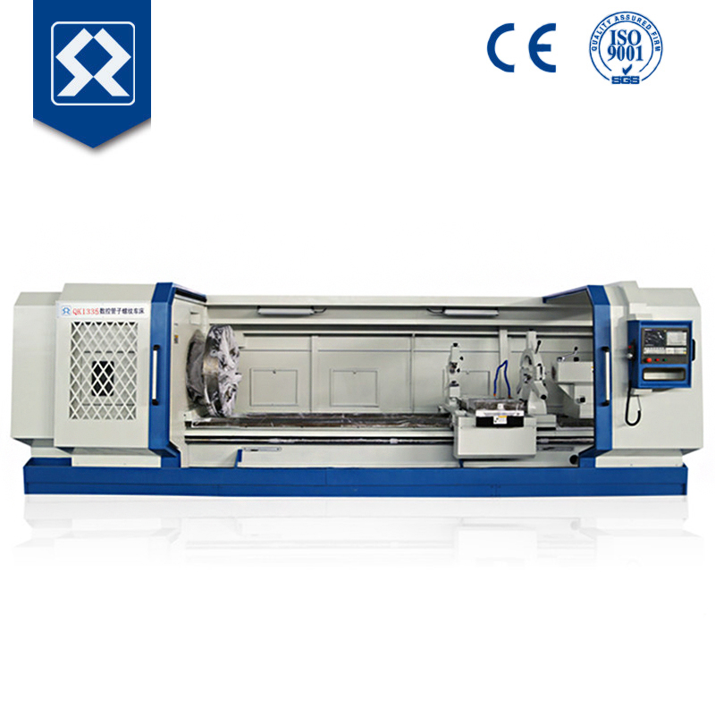 QK1335 CNC pipe threading machine cnc lathe , Manufacturer automatic CNC electric pipe nipple threading machine price