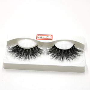 Beautyqueen 3d mink eyelash false eyelashes high quality creme 100% siberian fur messy thick eye lashes