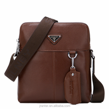 Cow leather messenger bag cross body wholesale men leather shoulder bag