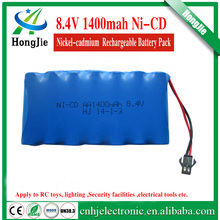 nicd aa 8.4v 1400mah rechargeable battery Ni CD AA batteries for rc car boat toy