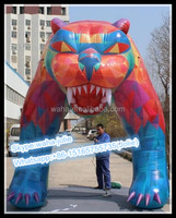 Animal!!!4m(H)*3m(W) Event Inflatable Tiger/Lion Arch/Event Cartoon W10534