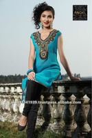 fancy neck designs kurtis
