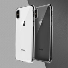Soft transparent TPU Back Cover for iphone x shockproof case Ultra thin phone case for iphone 7 8 plus