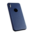 Luxury Anti Finger Print Leather Veins Case for iPhone X Back Cover Case