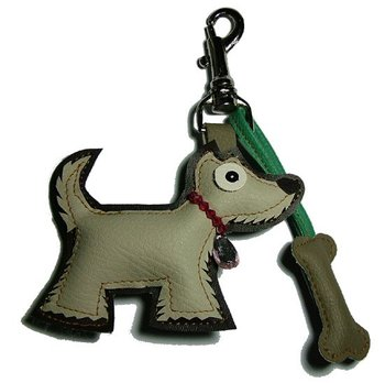 Westie With Bone Keychain