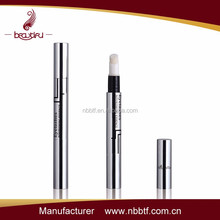 2015 fashionable empty cosmetic aluminum&plastic twist up lip gloss pen
