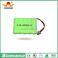 china factory price 1*6 nimh AA900mah 6.0v nimh rechargeable battery