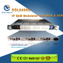 COL5400C IP QAM dvb-c Modulator with MUX & SCR/Mux-scrambling-modulating all-in -one device