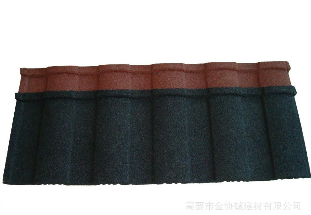 brown Shingle colored clay metal roofing tile for villa building