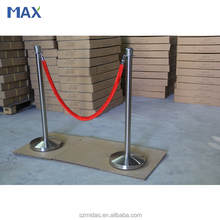 MAX Crown Top Velour Rope Chrome Stanchion Post