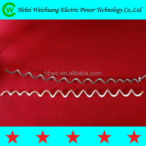 Super helical vibration damper/electric power fitting/line fitting