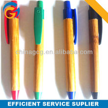 Hot! Wood Barrel Color Plastic Ball Pen