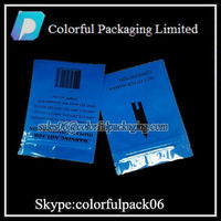 Printed foil sealable alluminum bags, sealable bags, double neck