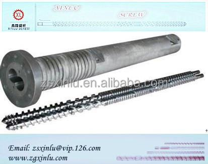 Twin screw and barrel cylinder for plastic extruder machine
