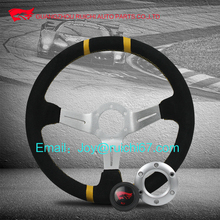 Available in different Diameter Steering wheel with yellow strips