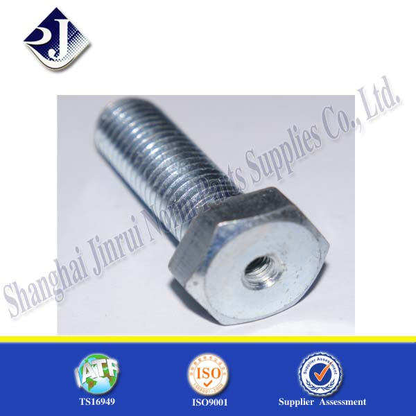 grade 8.8 hexagon bolt with hole carbon steel galvanizing
