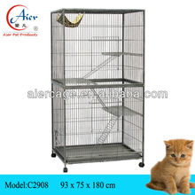 large double metal cat cage
