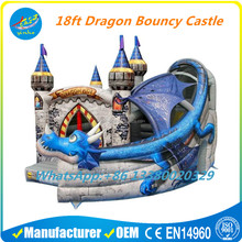Modular Inflatable 18ft Dragon Age Commercial Bouncy Castle with Slide