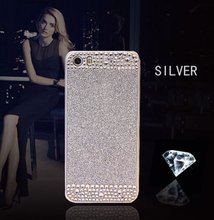 New 2016 Beautiful Hybrid Crystal Rhinestone With Sparkle Glitter Hard Protective Slim Diamond Cover For iPhone 5
