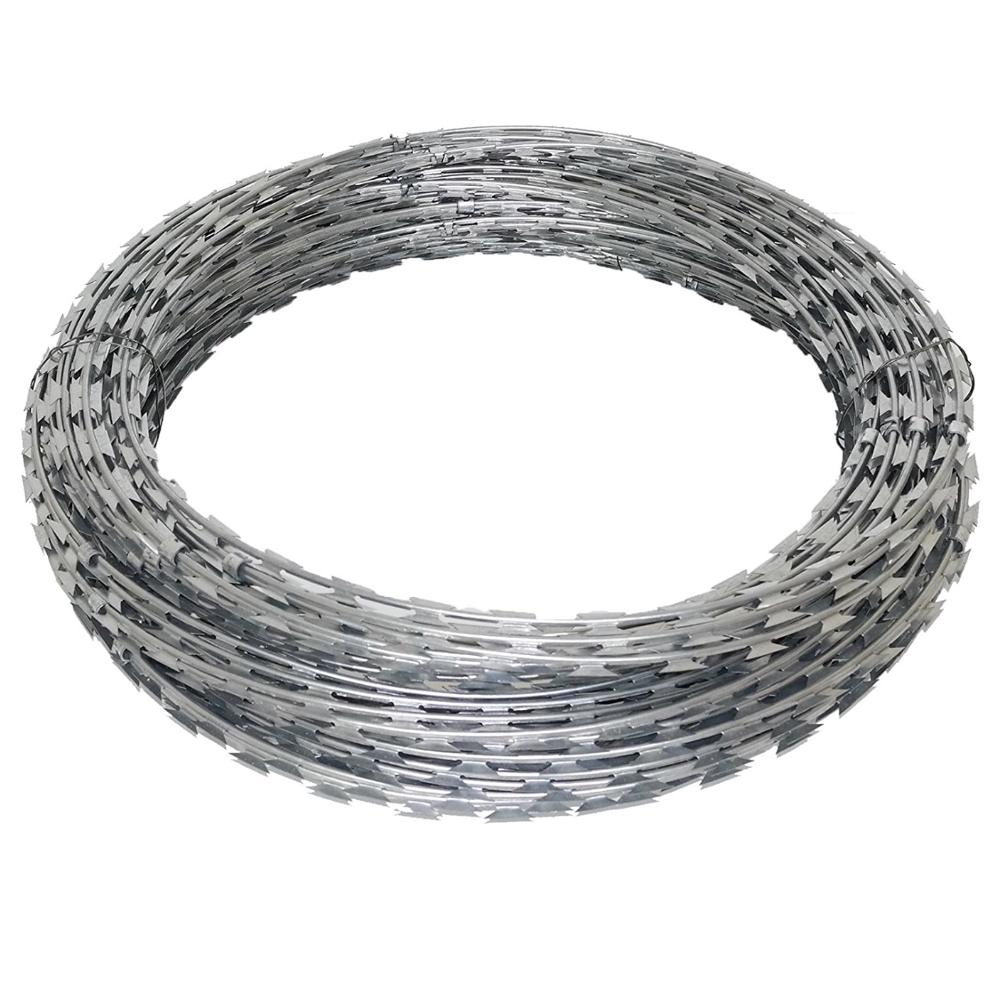 Double spiral blade barbed wire / single spiral razor barbed wire