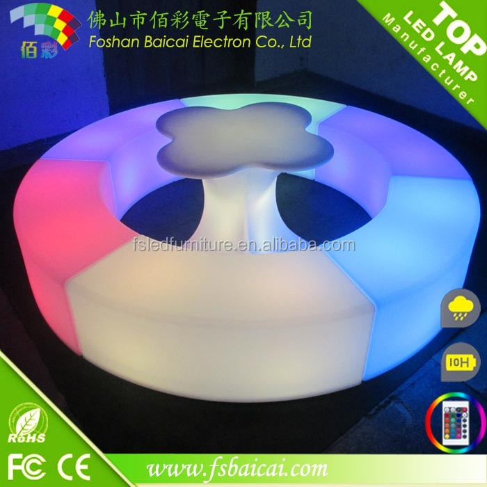 Popular Modern Hotel leisure LED Light Up Sofa <strong>Furniture</strong>