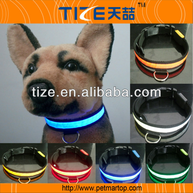 Hot flat dog collar TZ-PET1036 recycled material flash dog collars