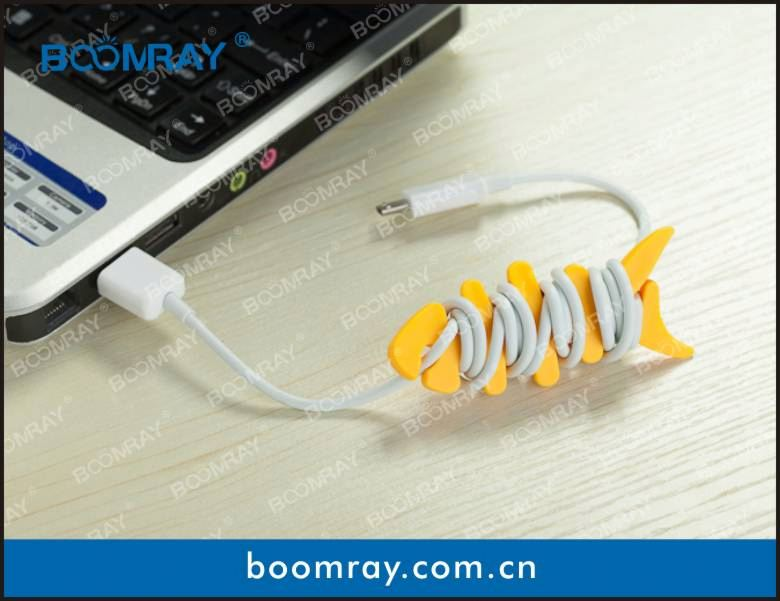 useful and cute cable headset connector sticky holder non slip pad
