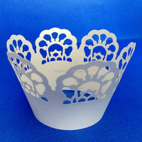 Beautiful Carved Laser Cut Cupcake Wrappers