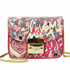 RICHMILAN -----2018Summer Graffiti Love Mini Plap Women PU Shoulder Bags Handbags Women Famous Brands Cover Chain Crossbody