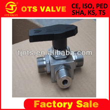 Qv_SY-276 3-Way Thread End T/L Type Stainless Steel Female NPT Ball Valve Made In China