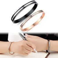 High Grade Stainless Steel Couple Bangle Romantic FOREVER IN LOVE Women Bangle Men Jewelry Vintage Design GH734