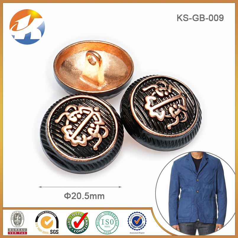 Fashion Designer Custom Clothing Buttons