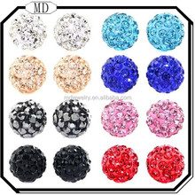 2015 Wholesale Bling Bling Rhinestones Crystal Fireball Disco Ball Ball 925 sterling silver Stud Earrings Woman