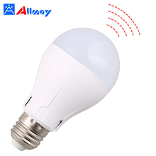 2018 high brightness rechargeable lamp smart light bulbs led light bulb with microwave sensor