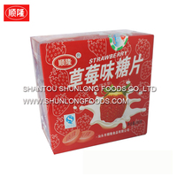 strawberry tablet candy,press candy, sweet candy tablet