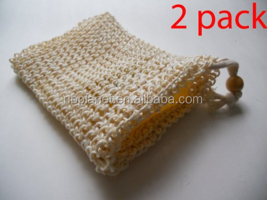 Natural Sisal Soap Saver Bag Sack Pouch Holder