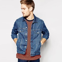 OEM/Wholesale high quality 100% cotton jeans denim jacket men 2016