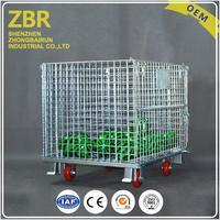 New Collapsible Stackable Wire Mesh Pallet Cage for Beer Tire Storage