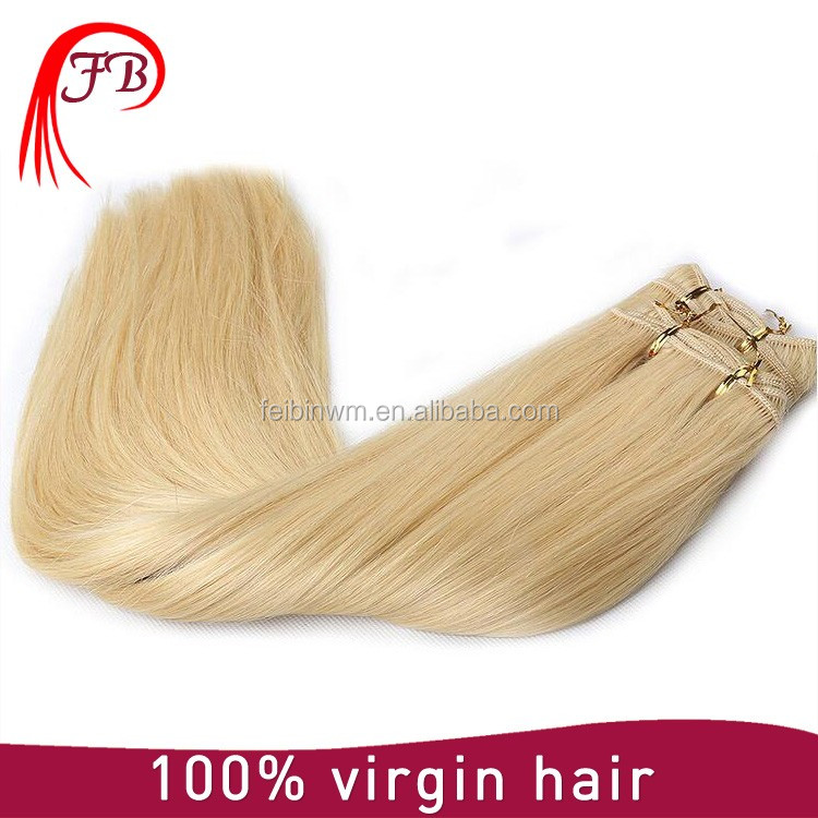 2016 factory cheap price for hair extension russian virgin human hair weft silk straight hair double drawn