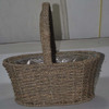 Hand Made Rattan Lined Basket Planter