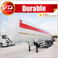 50 CBM carton steel fuel tanker, oil diesel transport truck semi tank trailer