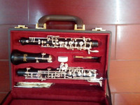 chinese brass instruments with silver plated key and black surface ebony Oboe at best price made in taiwan