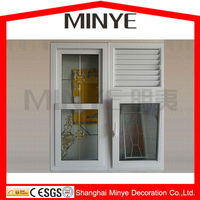 Aluminum up and down sliding window, american sash window,window grill design