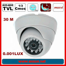IR Distance 20-30M for Chip 420TVL cmos mini cameras 208c