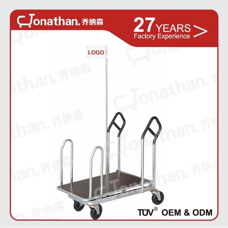 WT-2 warehouse portable two handles trolley