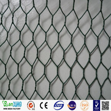 PVC Coated Black iron wire hexagonal small hole bird cage chicken wire mesh