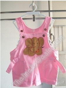 Thai lovely Baby clothing , baby bibs,kid bib infant wear elephant paint pink colour